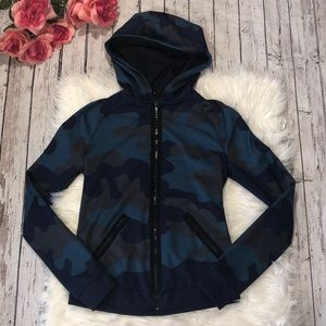 Ultracor Frequency Camo Blue Hooded Zip Up